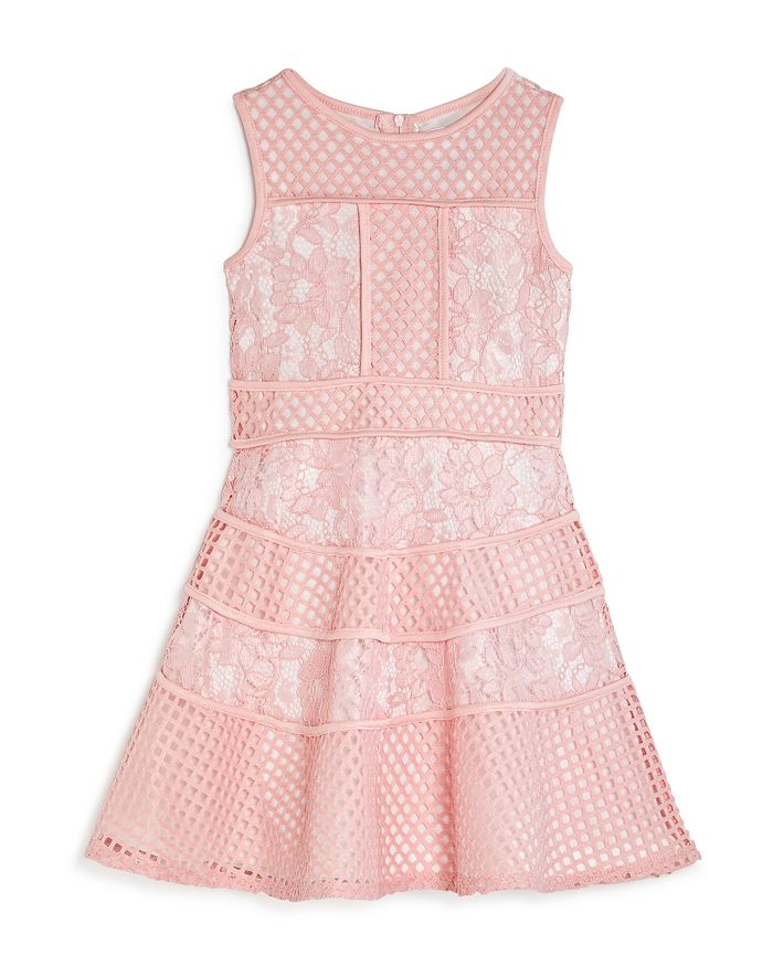 US Angels - Girls' Sleeveless Floral-Lace Dress - Little Kid