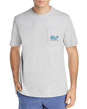 Vineyard Vines Fish-Hook Whale Logo Graphic Pocket Tee