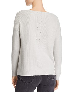 AQUA - Pointelle Detail Sweater - 100% Exclusive