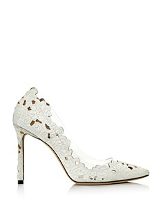 Jimmy Choo - Women's Romy Clear Floral Pumps