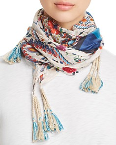 Johnny Was - Miya Silk Tassel Scarf