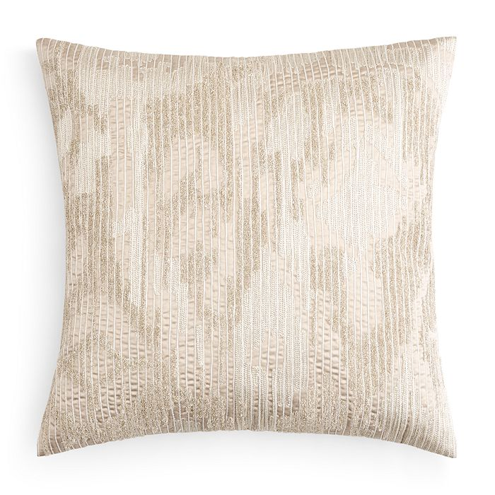 "Hudson Park Collection - Embroidered Texture Decorative Pillow, 20"" x 20"" - 100% Exclusive"