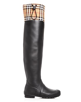 Burberry - Women's Freddie Vintage Check Over-the-Knee Rain Boots