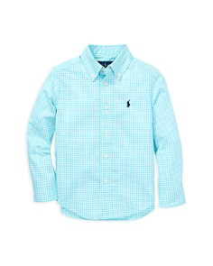 Ralph Lauren - Boys' Gingham Poplin Sport Shirt - Little Kid