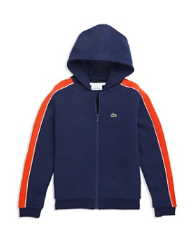 012dc4ae48a6 Lacoste - Boys  Single-Stripe Hooded Zip Sweatshirt - Little Kid