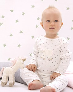 Albetta - Girls' Crochet Unicorn Star-Print Coverall, Baby - 100% Exclusive