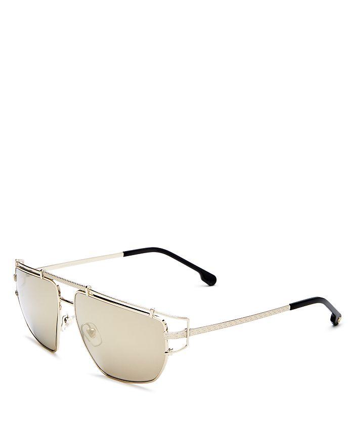 f78a0044b44 Versace - Men s Mirrored Brow Bar Aviator Sunglasses