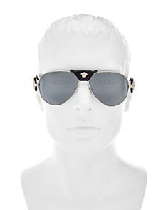 Versace - Men's Mirrored Aviator Sunglasses, 62mm
