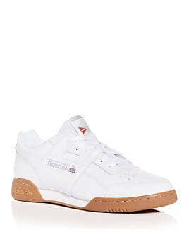 Reebok - Men's Workout Plus Leather Low-Top Sneakers