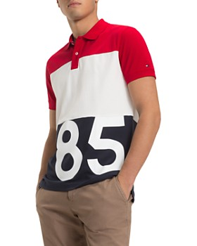 Tommy Hilfiger - 85-Printed Color-Block Regular Fit Polo Shirt
