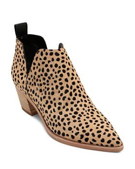 d609ad90964f Dolce Vita - Women s Sonni Leopard Print Calf Hair Ankle Booties ...