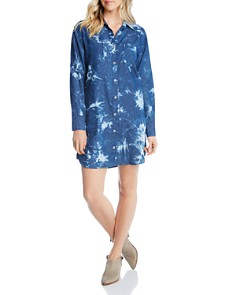 Karen Kane - Tie-Dye Denim Shirt Dress