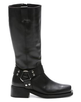 ... The Kooples - Women s Tall Leather Moto Boots ac2fa2328e2b