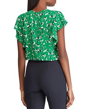 ... Ralph Lauren - Floral Flutter-Sleeve Top 2ac91f69d9c0