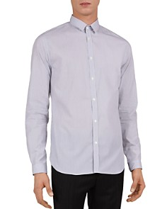 The Kooples - Ashton Texture Striped Slim Fit Button-Down Shirt