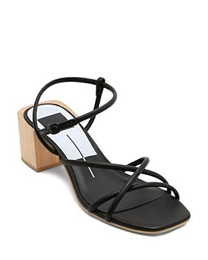Dolce Vita Sandals WOMEN'S ZAYLA WOODEN BLOCK HEEL SANDALS