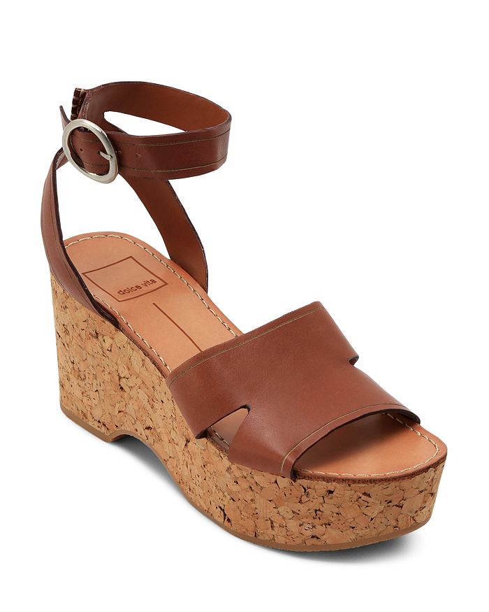 Dolce Vita - Women's Linda Leather & Cork Platform Sandals