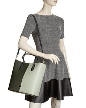 kate spade new york - Large Color-Block Leather Tote Bag