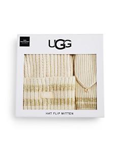 UGG® - Beanie & Pop Top Mittens Gift Set - 100% Exclusive