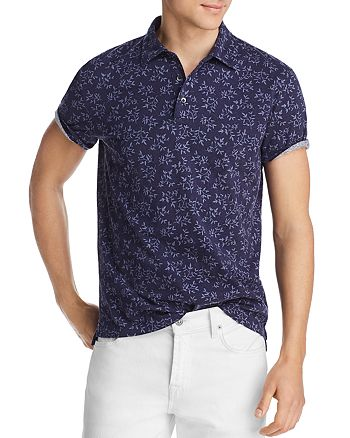 The Men's Store at Bloomingdale's - Leaf-Print Jersey Classic Fit Polo Shirt - 100% Exclusive