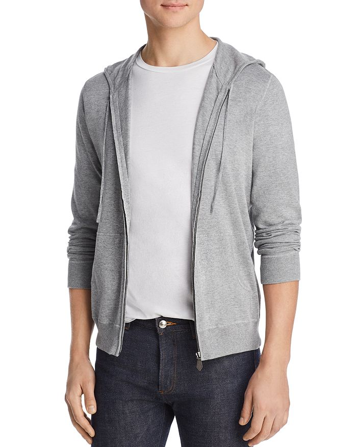 The Men's Store at Bloomingdale's - Leather-Accented Knit Hoodie - 100% Exclusive