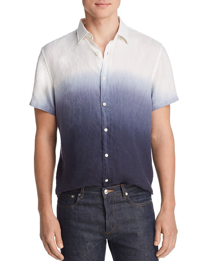 The Men's Store at Bloomingdale's - Short-Sleeve Dip-Dyed Linen Classic Fit Shirt - 100% Exclusive