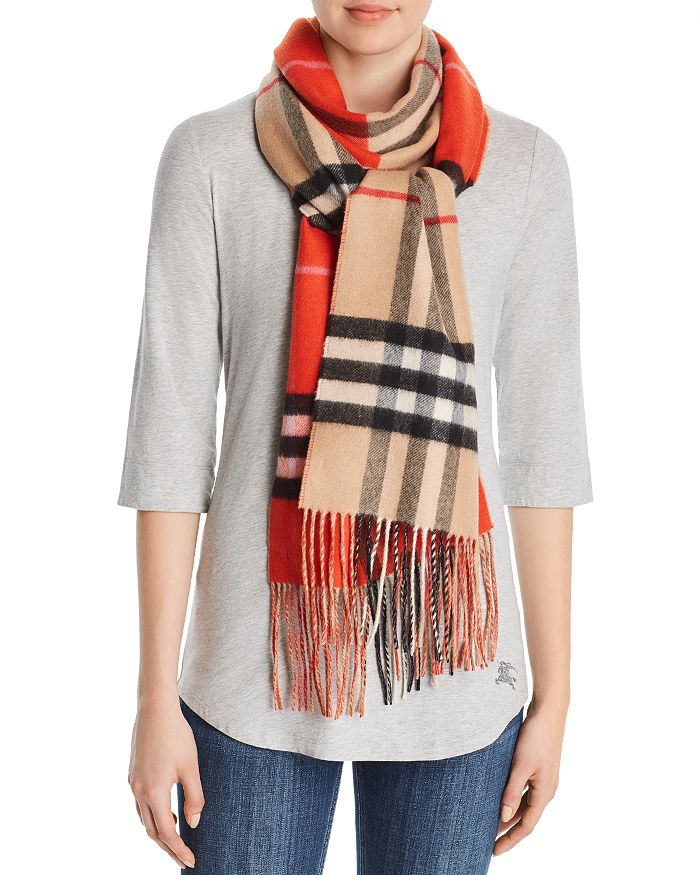 Burberry - Color-Block Giant Check Cashmere Scarf