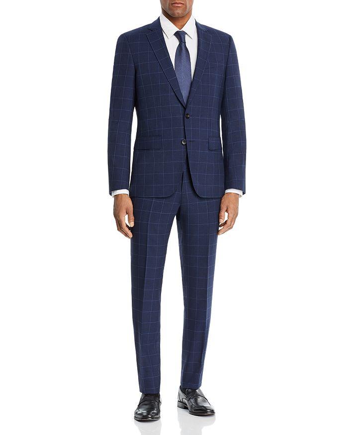 BOSS Hugo Boss - Huge/Genius Windowpane Slim Fit Suit