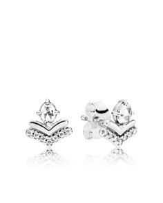 PANDORA - Sterling Silver & Cubic Zirconia Classic Wishes Earrings