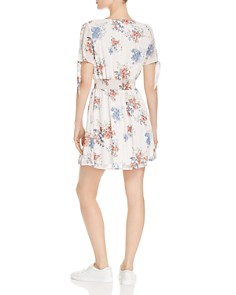Sage the Label - Sahale Floral-Print Faux-Wrap Mini Dress