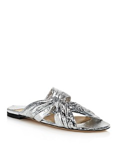 Jimmy Choo - Women's Lela Knotted Slide Sandals
