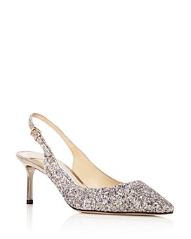 Jimmy Choo - Women's Erin 60 Glitter Slingback Pumps