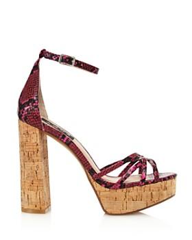 AQUA - Women's Milo Snake Print Platform Sandals - 100% Exclusive