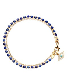 Astley Clarke - Lapis Lazuli Evil Eye Biography Bracelet in 18K Gold-Plated Sterling Silver