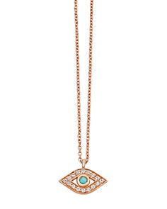 """Astley Clarke - Evil Eye Biography Pendant Necklace in 18K Yellow Gold-Plated Sterling Silver or 18K Rose Gold-Plated Sterling Silver, 16"""""""