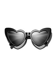 Saint Laurent - Women's Heart Cat Eye Sunglasses, 53mm