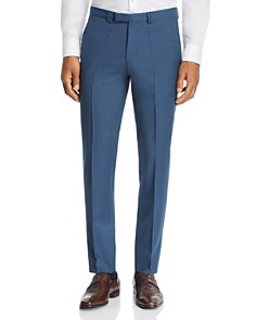 HUGO - Hesten Micro-Grid Checked Slim Fit Suit Pants