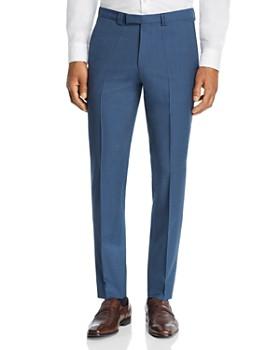 8e6ab3974d HUGO - Hesten Micro-Grid Checked Slim Fit Suit Pants ...