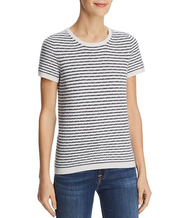 C by Bloomingdale's - Pointelle Striped Cashmere Sweater - 100% Exclusive