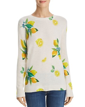 C by Bloomingdale's - Lemon Print Cashmere Sweater - 100% Exclusive