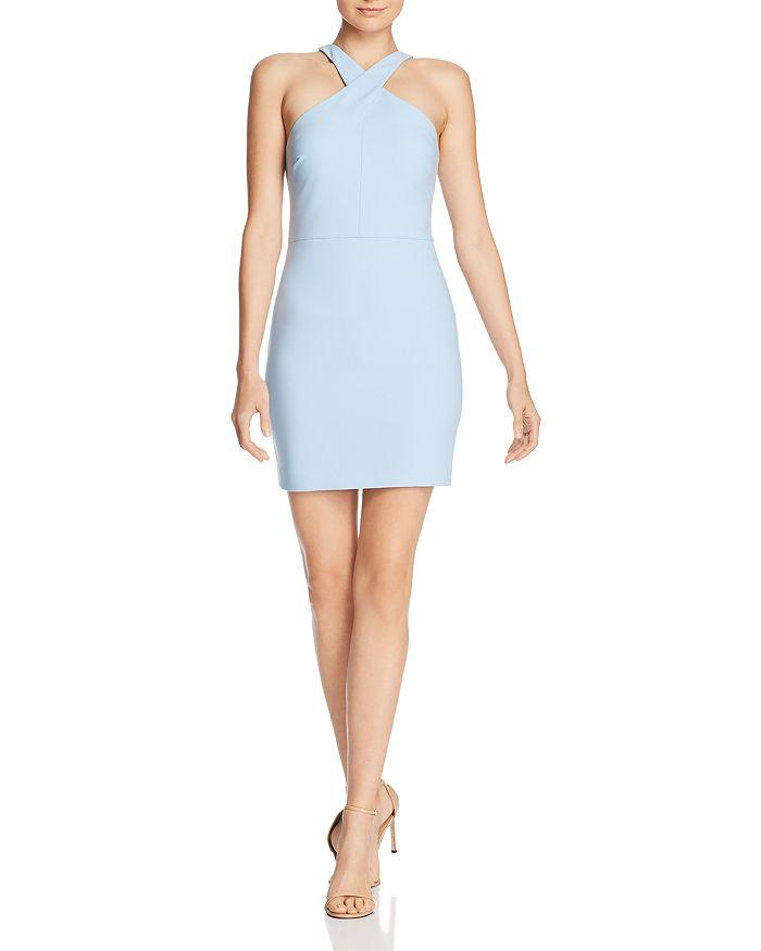 2bdeab4b9a LIKELY - Carolyn Crossover Mini Sheath Dress