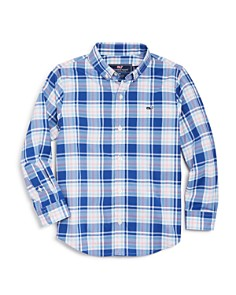 Vineyard Vines - Boys' Perfect Plaid Sport Shirt - Little Kid, Big Kid
