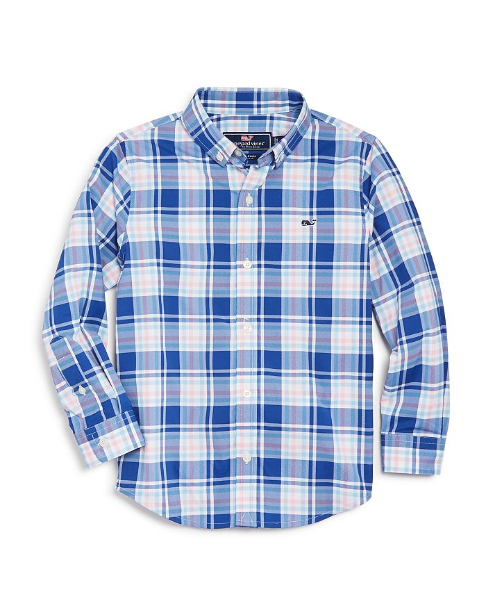 Vineyard Vines - Boys' Perfect Plaid Sport Shirt - Little Kid, Big Kid