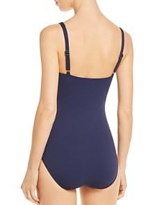 Tommy Bahama - Grommet Trim Solid Piqué One Piece Swimsuit