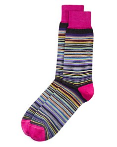 The Men's Store at Bloomingdale's - Micro-Stripe Socks - 100% Exclusive