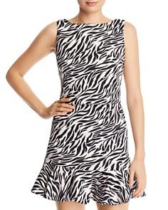 AQUA - Zebra Print Cropped Top - 100% Exclusive