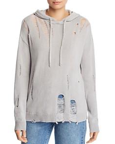 AQUA - Distressed Hoodie Sweater - 100% Exclusive