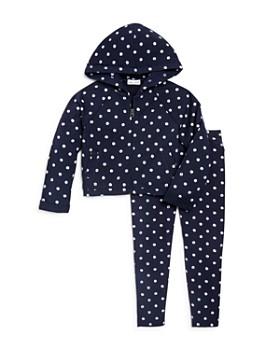 Splendid - Girls' Faded-Dot Zip Hoodie & Leggings - Little Kid