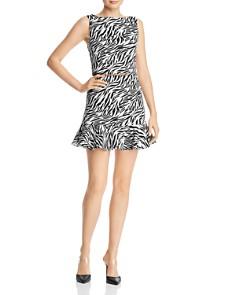 AQUA - Flounced Zebra Print Mini Skirt - 100% Exclusive