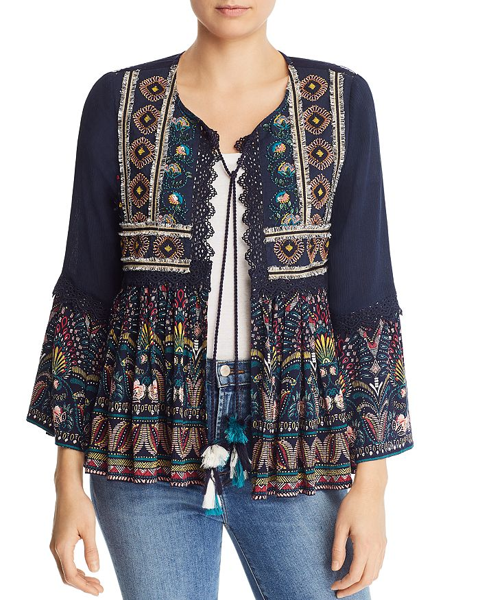 AQUA - Embellished Printed Jacket - 100% Exclusive